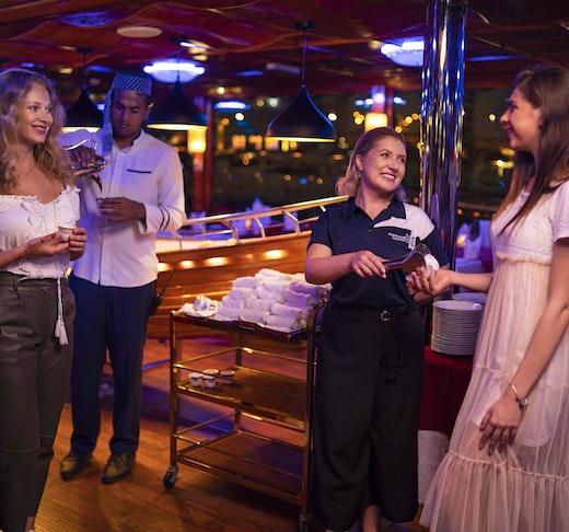 Royal Dinner Dhow Cruise at Dubai Marina Location