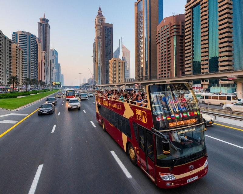Big Bus Dubai: 1/2/5 Days Hop-On-Hop-Off Tour Ticket