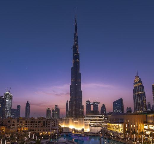 Dubai Fountain Boardwalk Location