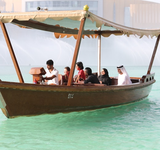 The Dubai Fountain Show and Lake Ride