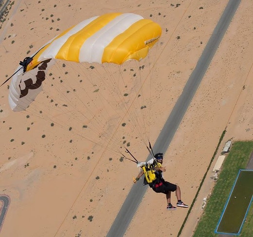 Skydive Dubai Desert Drop Zone  Location