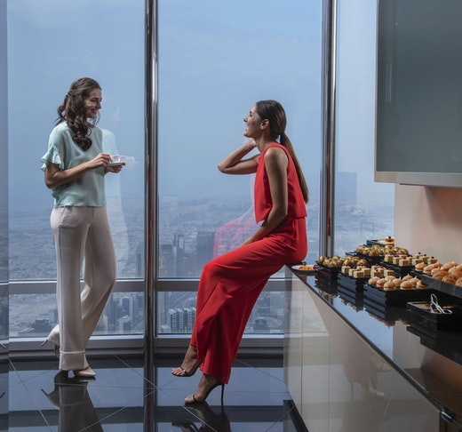 Burj Khalifa : The Lounge 152 ,153 and 154 Floor Location