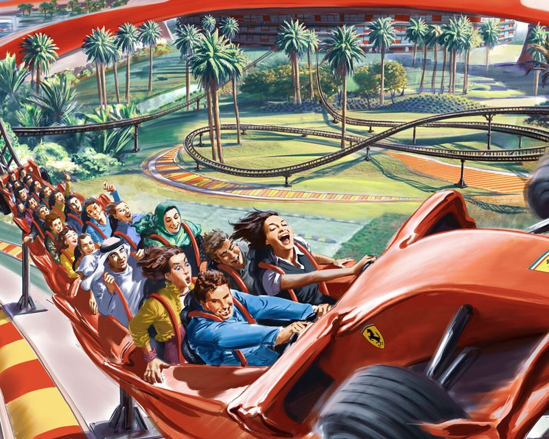 Ferrari World, Yas Waterworld, Warner Bros. World™ Abu Dhabi (3 Days Pass)  Location