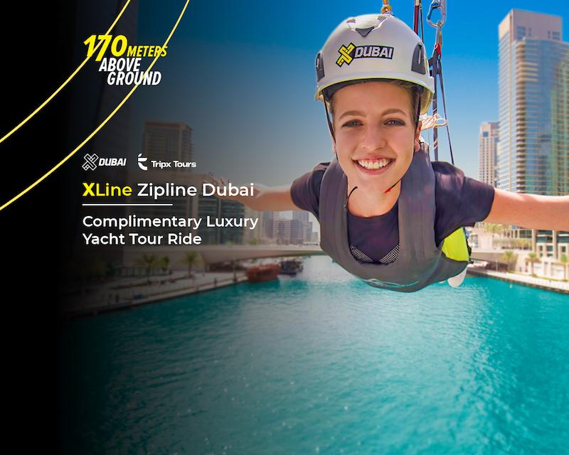 XLine Zipline Dubai Marina  Location
