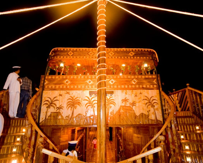 World's Biggest Wooden Floating Cruise in Dubai Creek  Tripx Tours