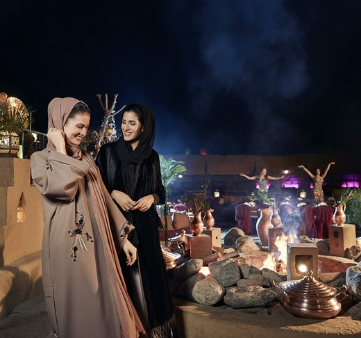 Al Hadheerah Desert Restaurant  Location