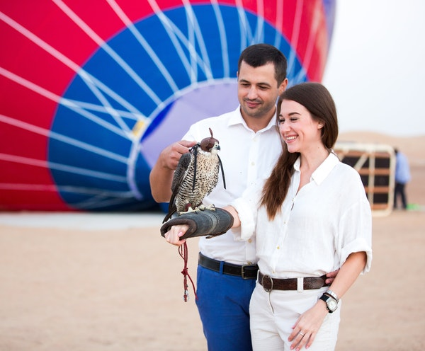 Standard Hot Air Balloon, Camel ride with Breakfast & Desert Safari Discount