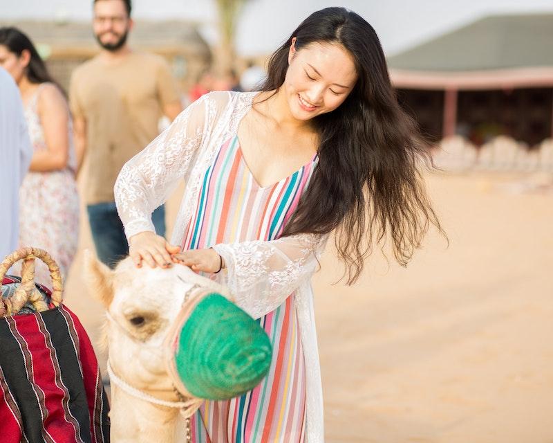 Standard Hot Air Balloon, Camel ride with Breakfast & Desert Safari Tripx Tours