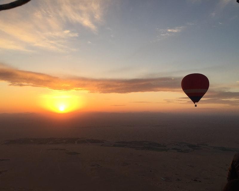 Standard Hot Air Balloon, Camel ride with Breakfast & Desert Safari Ticket