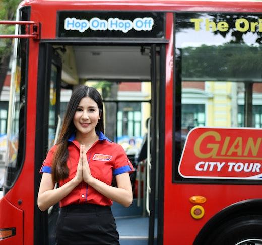 Hop on Hop off Bus Bangkok By Giants City Tour