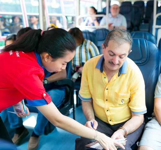 Hop on Hop off Bus Bangkok By Giants City Tour Price