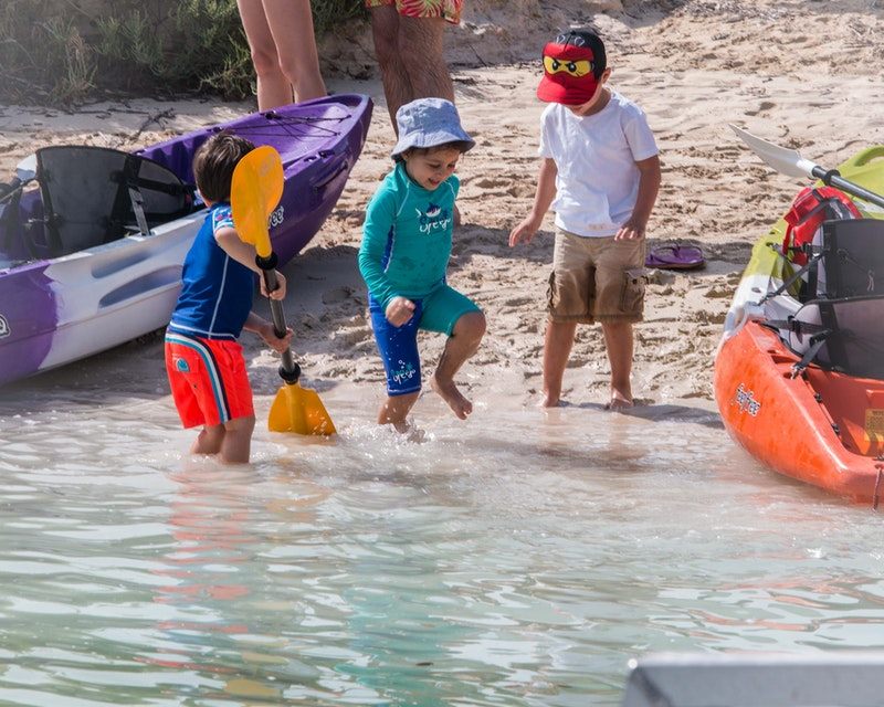 Kayaking through the eastern mangrove national park