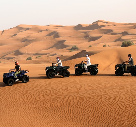 Premium Morning Quad Bike Sandboarding and Camel Ride Discount
