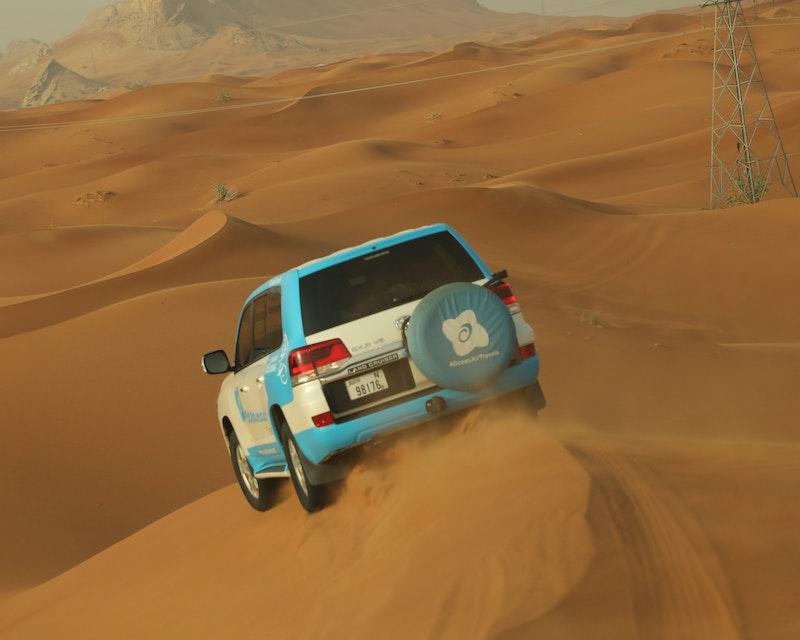 Morning Desert Safari Dubai: Dune Bashing, Sand Boarding, Camel Ride with Brunch Discount