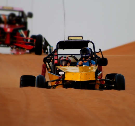 2 Seater Self-Drive Dune Buggy Safari with BBQ Dinner Location