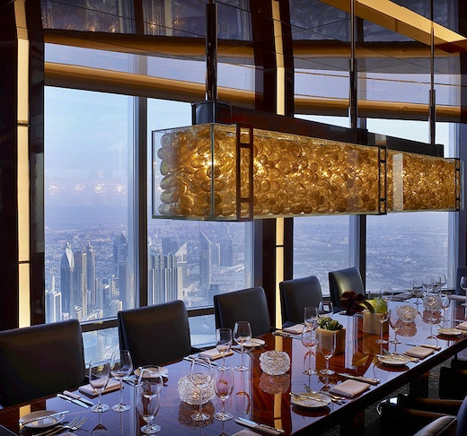 Dine experience at Burj Khalifa - Atmosphere with Discover Dubai by Night Discount