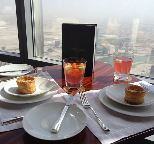 Dine experience at Burj Khalifa - Atmosphere with Discover Dubai by Night Ticket