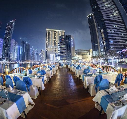 Sunset Dinner Dhow Cruise at Dubai Marina Location
