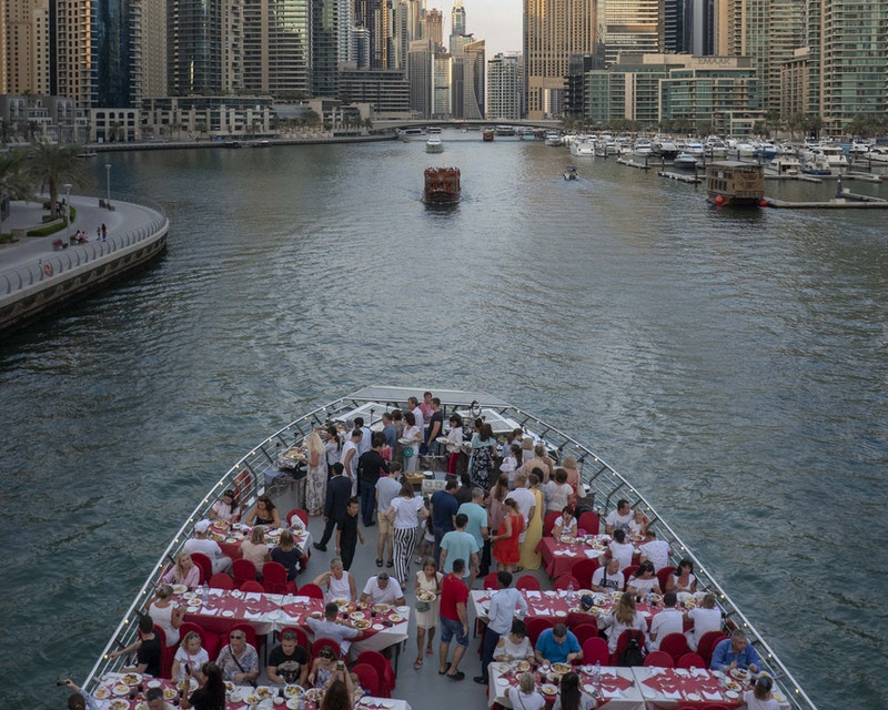 Sunset Dinner Dhow Cruise at Dubai Marina Ticket