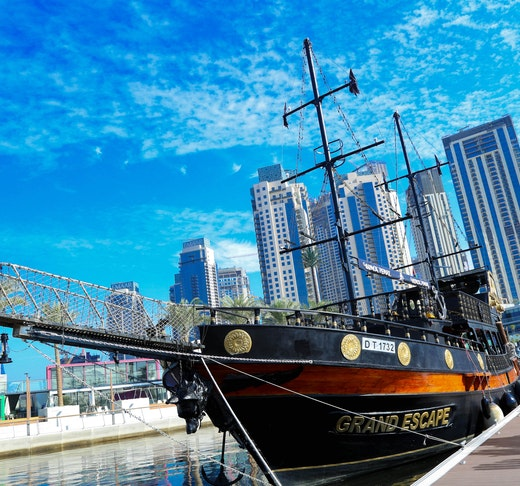 Pirate Brunch and Swim at Dubai Canal Location