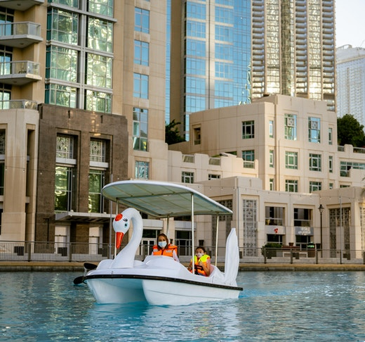 Dubai Fountain Pedal Swan Boats Ticket