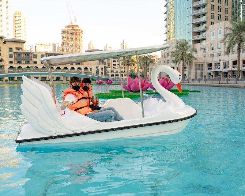 Dubai Fountain Pedal Swan Boats