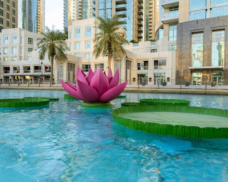 Dubai Fountain Flamingos Boat Experience Location