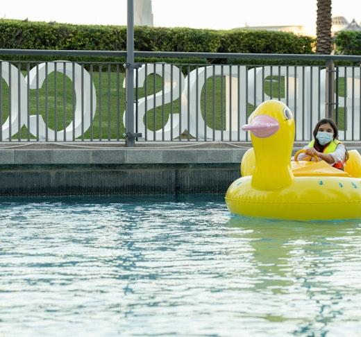 Dubai Fountain Flamingos Boat Experience Ticket