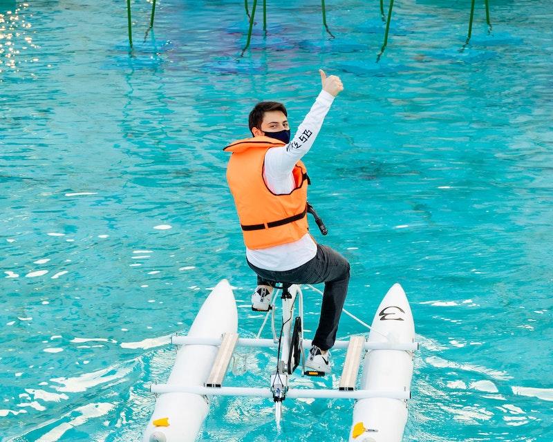 Dubai Fountain Water Bikes  Location