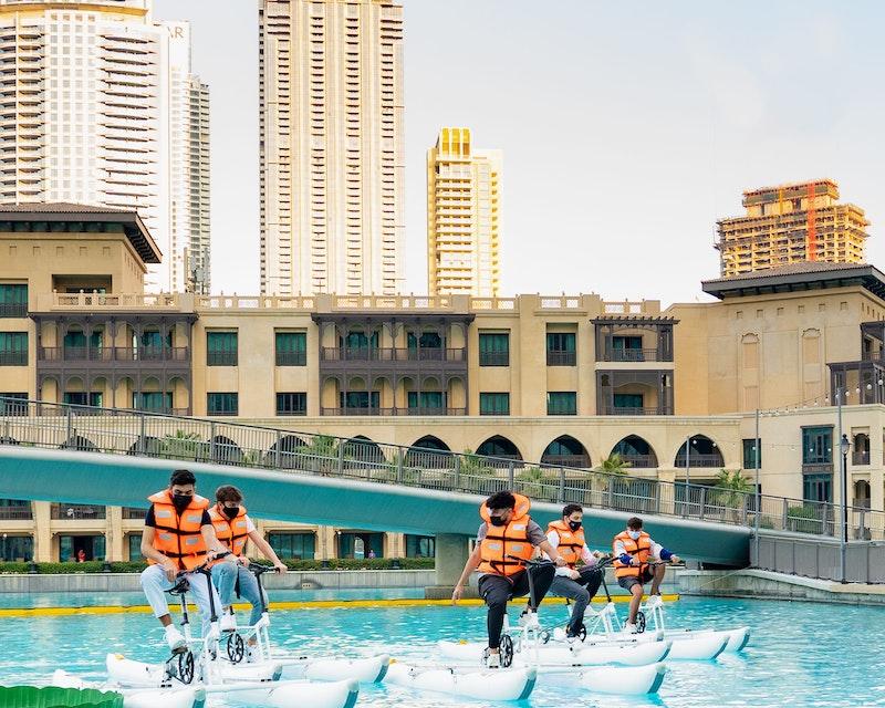 Dubai Fountain Water Bikes