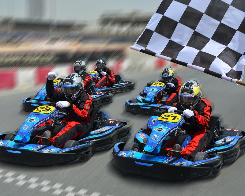 Outdoor Karting at Dubai Autodrome